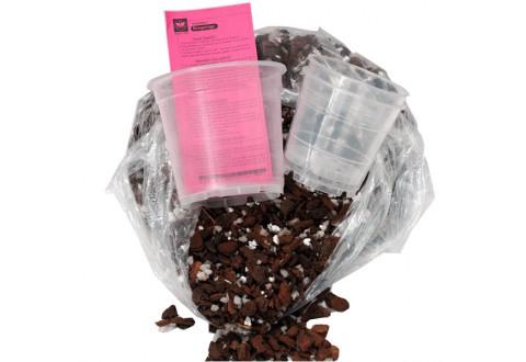 Mélange de rempotage (1 sac + 3 pots translucides)
