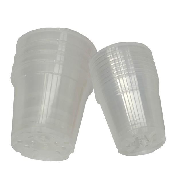 12 pots en plastique translucide diam 12 et 15cm vente mat riel de culture. Black Bedroom Furniture Sets. Home Design Ideas