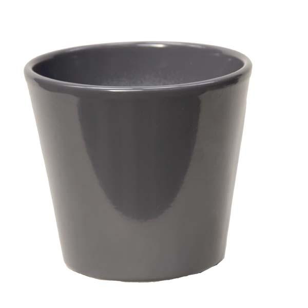 Cache-pot orchidée céramique gris