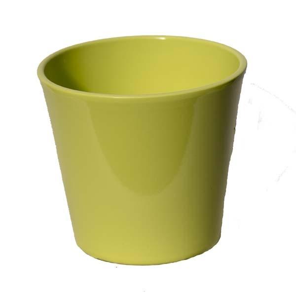 Cache-pot orchidée céramique vert anis