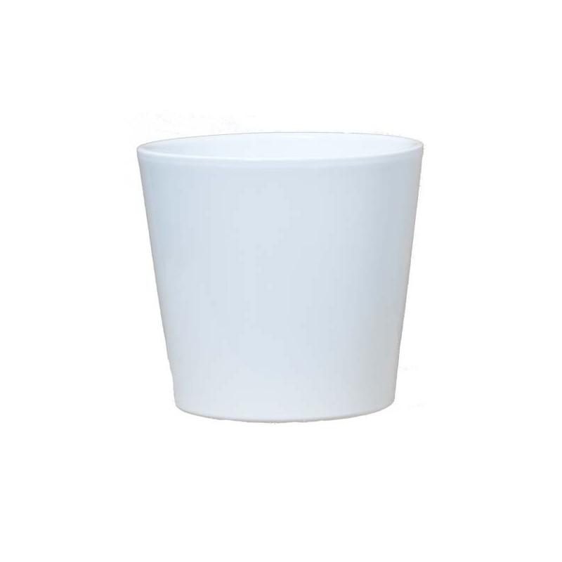 cache pot orchid e c ramique blanc vente cache pot cache pot standards en ligne. Black Bedroom Furniture Sets. Home Design Ideas