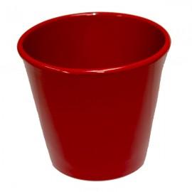 Cache-pot orchidée céramique rouge